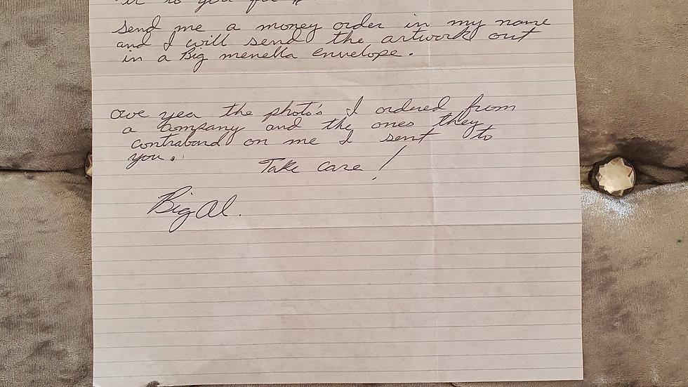 """Alfred """"Big Al"""" Gaynor Letter"""
