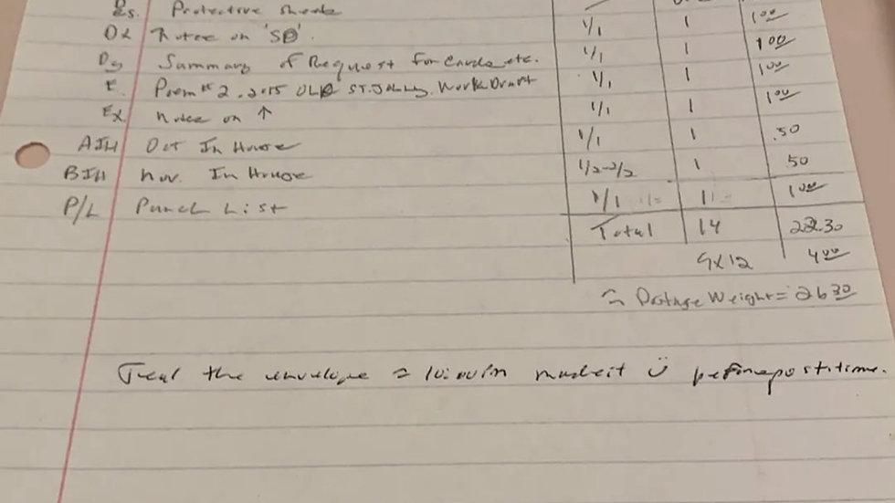 """Dennis Rader """"BTK"""" Handwritten Notes"""