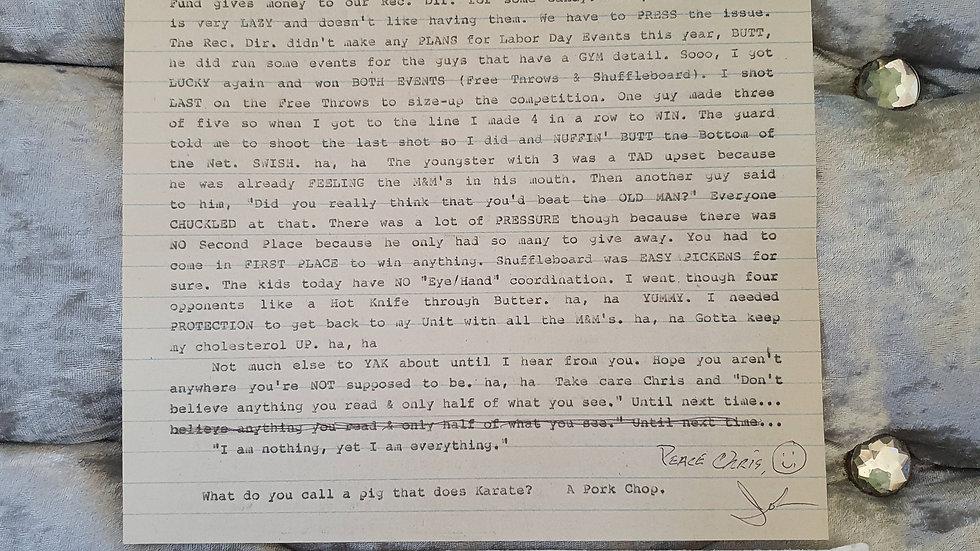 John Collins Infamous Michigan 1960's serial killer letter