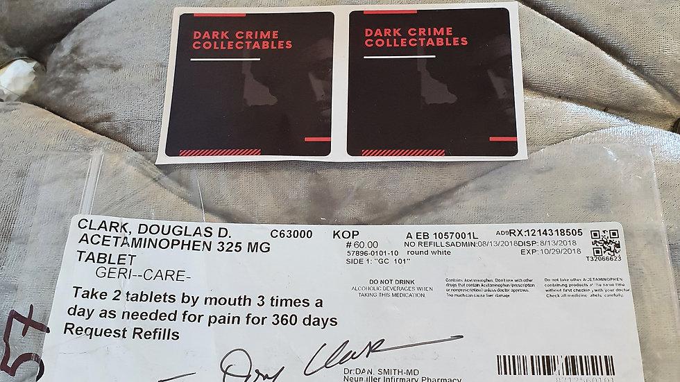 "Doug Clark ""Sunset Strip Killer"" Signed Medicine Bag"