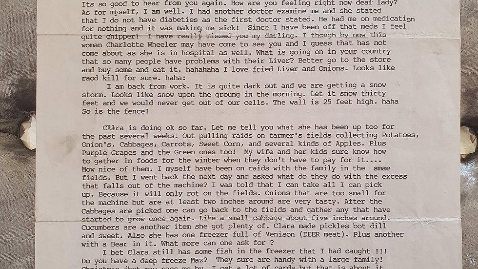 Arthur Shawcross Genesee River Killer Letter