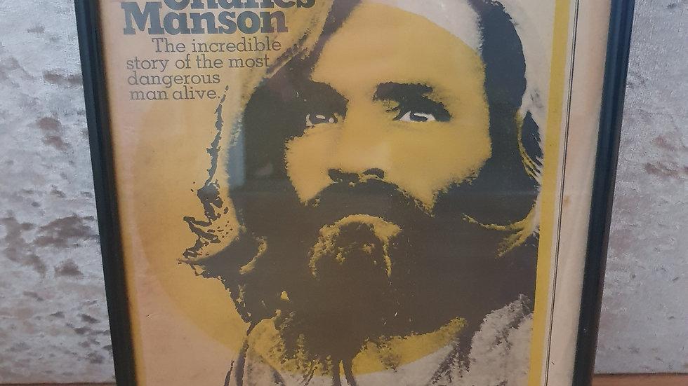Charles Manson 1970 Framed Rolling Stone Magazine (rare)