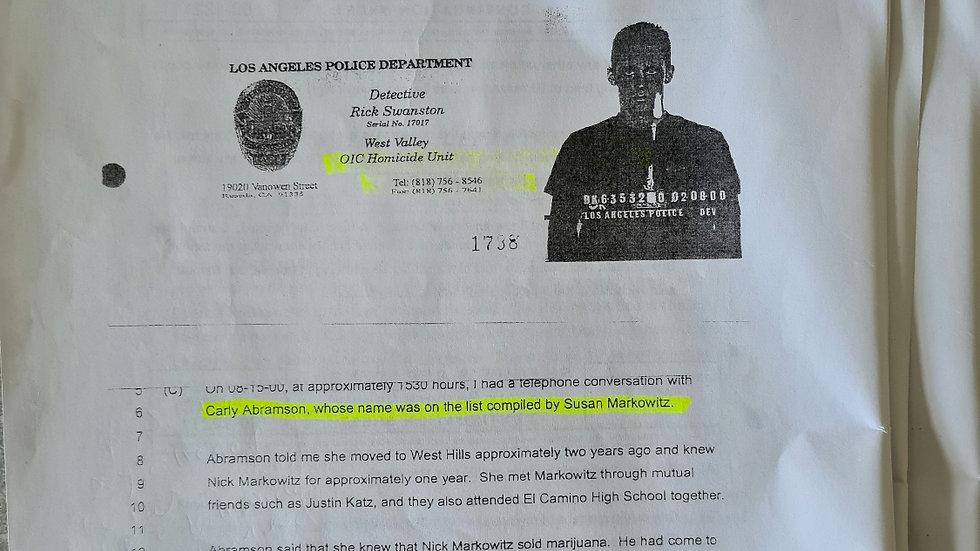 Jesse James Hollywood 10 Page Legal Documents & Envelope Set