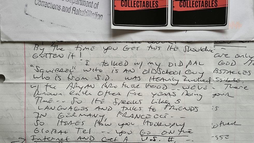 Jesse James Hollywood 2 Page Letter & Envelope Set