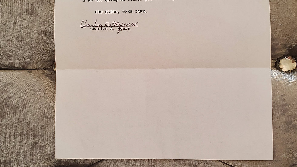Charles Myers San Quentin Letter
