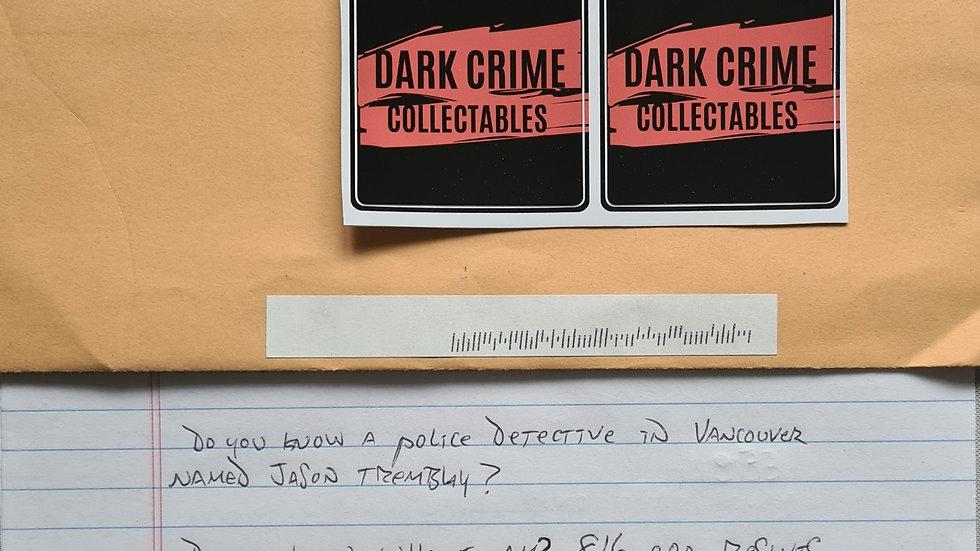 """Dana Martin """"Justin Bieber Murder Plot"""" Letter & Envelope Set"""