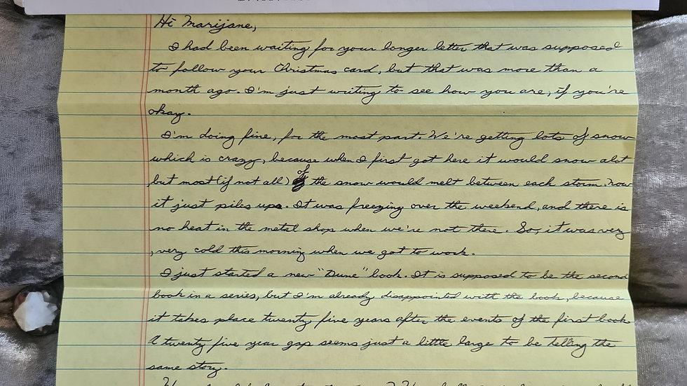 """Kendall Francois """"The Poughkeepsie Killer"""" Letter"""