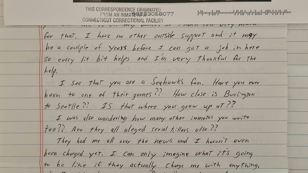"William Devin Howell ""Sick Ripper"" Letter"