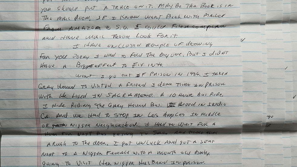 """Phillip Carl Jablonski """"Deadly Urges Killer"""" 6 Page Letter"""
