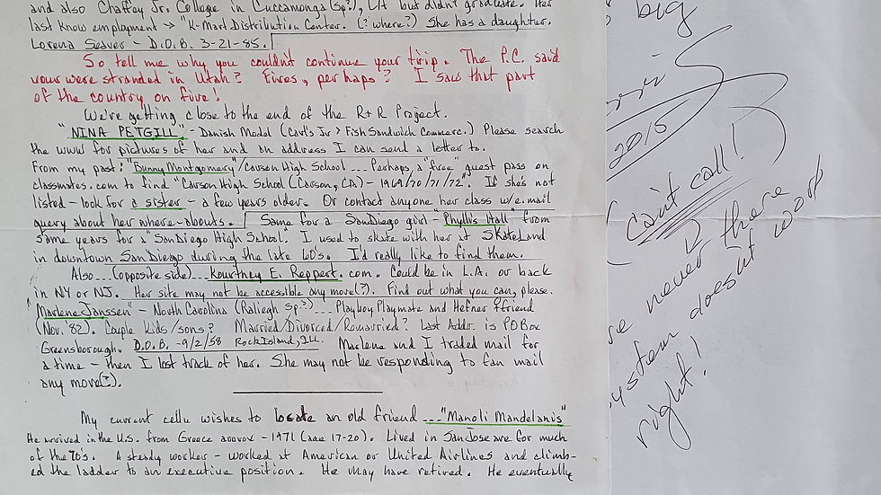Roy Norris Letter