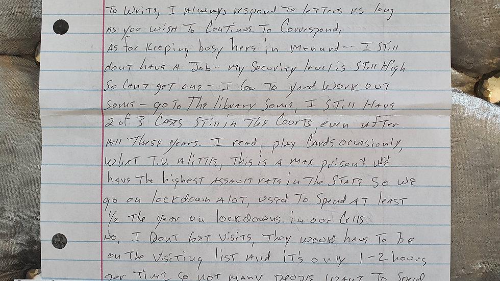 Edward Tenney Letter