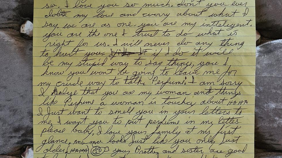 Samuel Little Letter & Hand Tracing