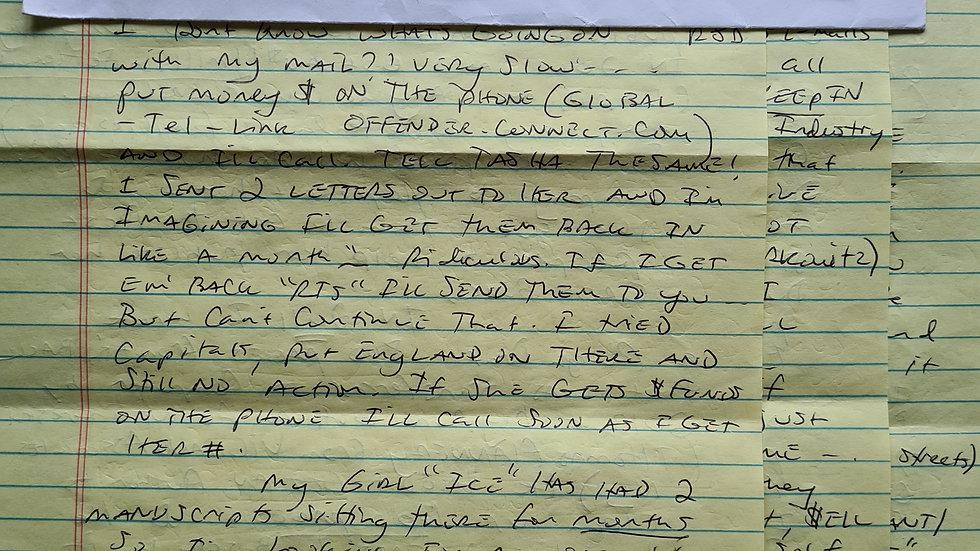 Jesse James Hollywood 3 Page Letter & Envelope Set