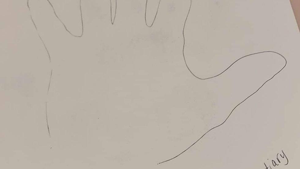 Dustin Lynch Hand Tracing & Handprint Signed
