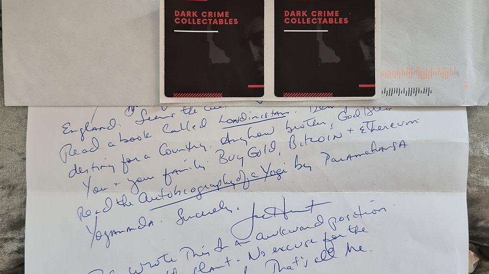 "Joe Hunt ""Billionaire Boy's Club"" Letter"