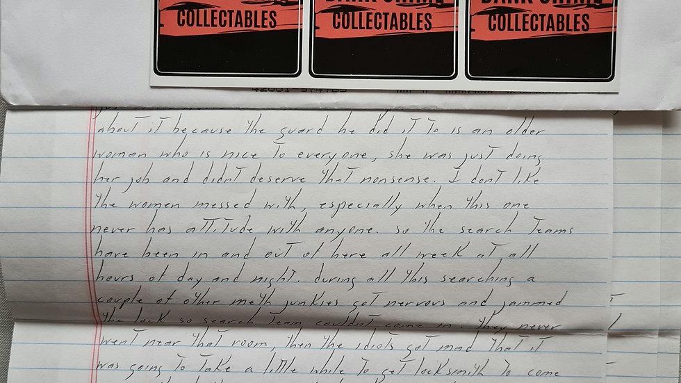 Todd kohlhepp Letter & Envelope Set
