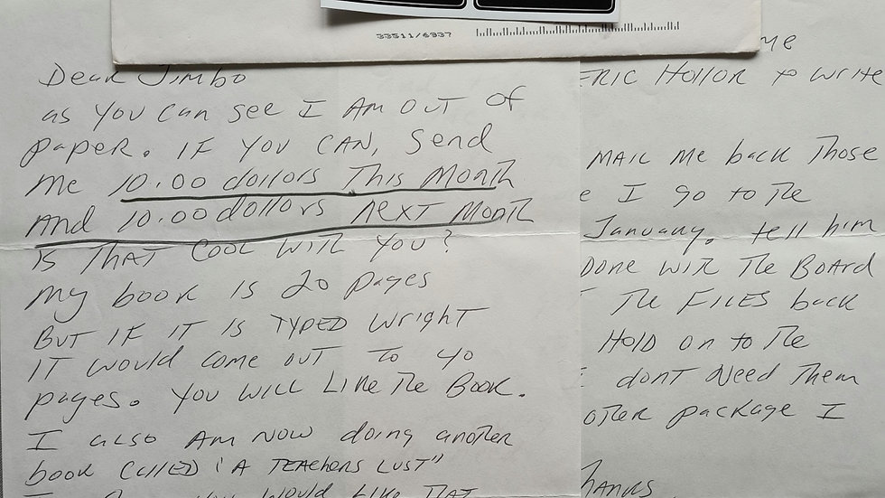 "James Munro ""The Freeway Killer"" 1997 2 Page Letter & Envelope Set"