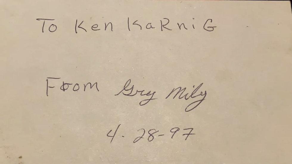 "Greggory Miley ""Freeway Killer"" Signed Card"
