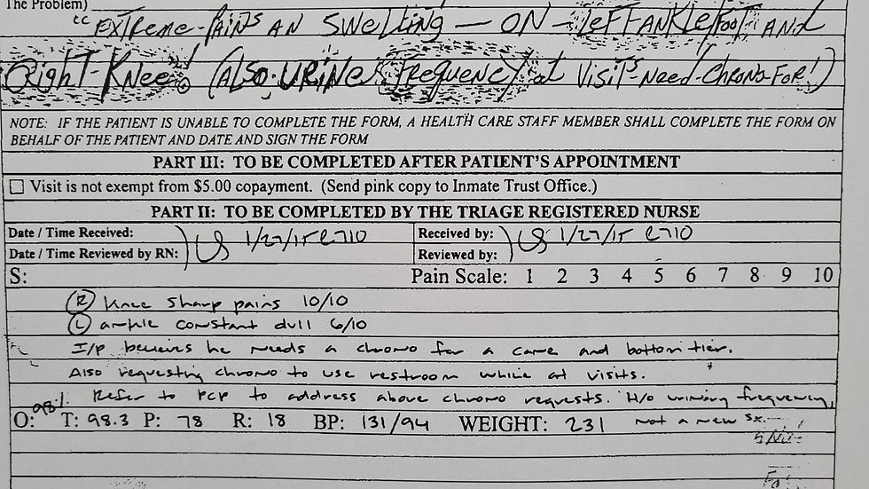 Raynard Cummings Signed Medical Document