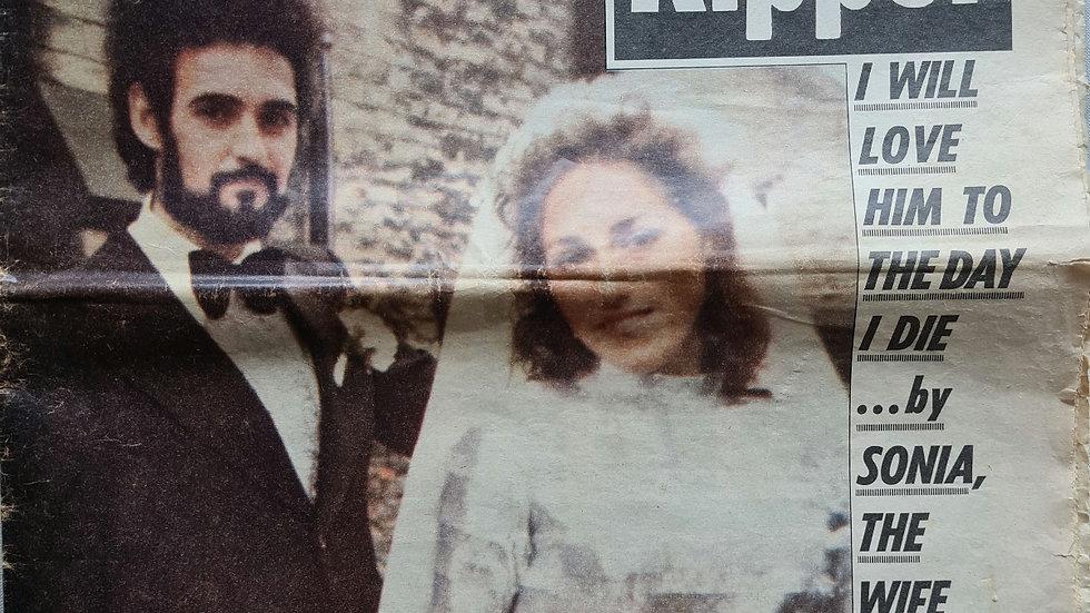 "Peter Sutcliffe ""Yorkshire Ripper"" Newspaper"
