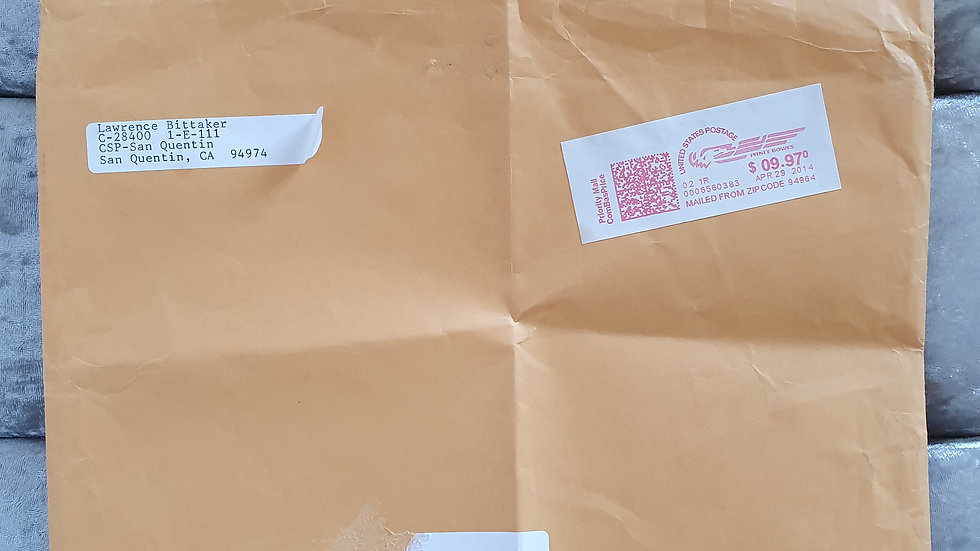 Toolbox Killer San Quentin Prison Envelope