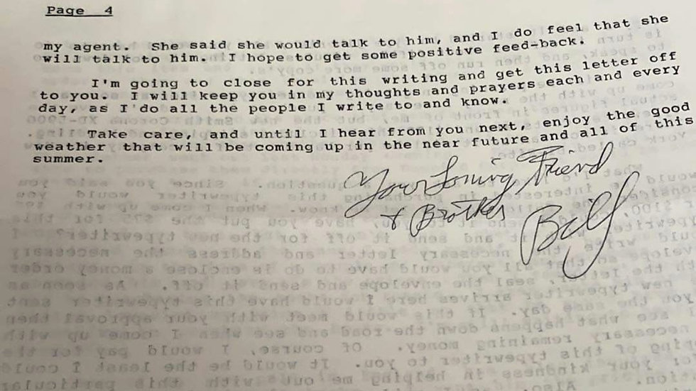William Bonin Letter & Envelope Set
