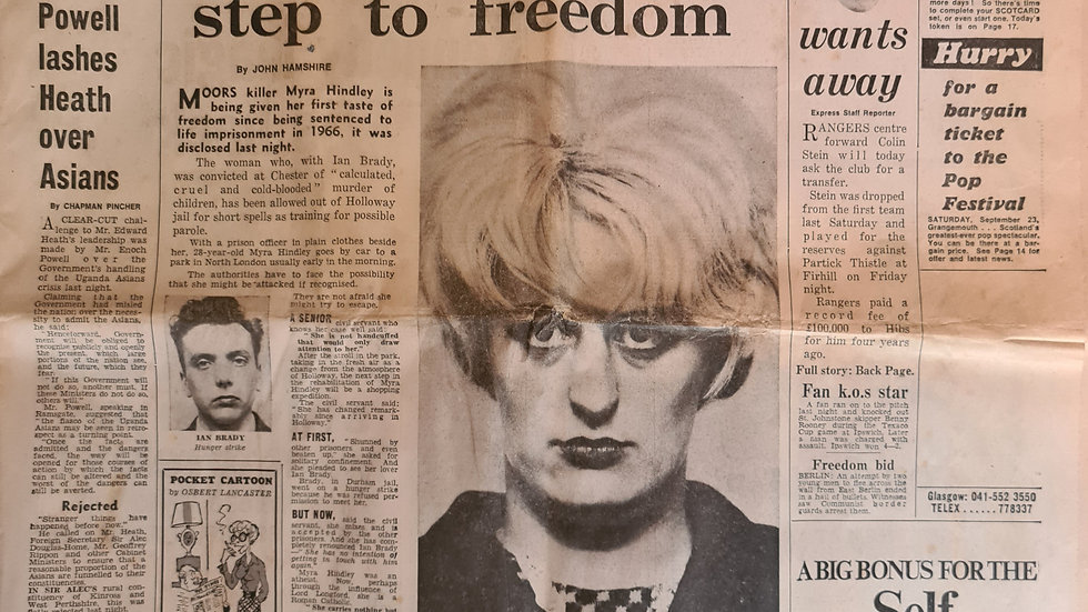 Myra Hindley Original 1972 Newspaper