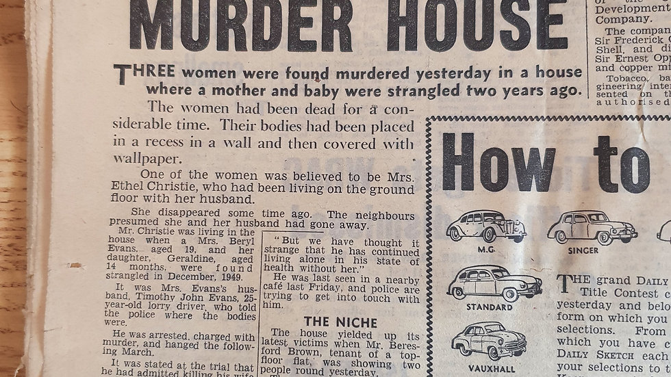 John Christie Original 1953 Newspaper