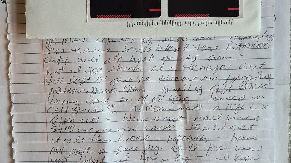 """Vickie Jackson """"Nurses Who Kill"""" Letter & Envelope Set"""