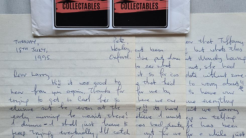 "Peter Sutcliffe ""Yorkshire Ripper"" 1995 3 Page Letter & Envelope Set"