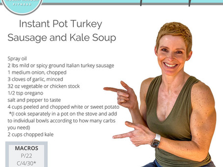 Recipe: Instant Pot Turkey Sausage and Kale Soup