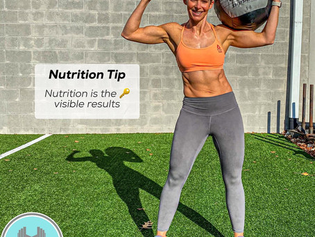 Nutrition Tip: Nutrition is the key to visible results!