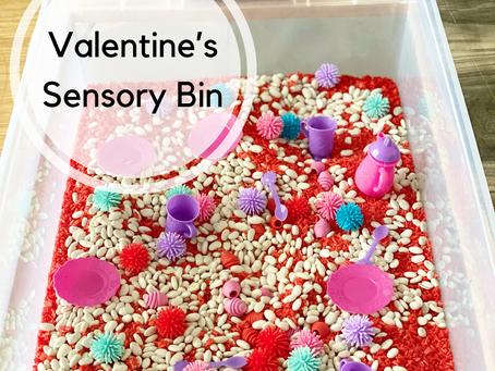 A Tea Time Sensory Bin for Valentine's Day
