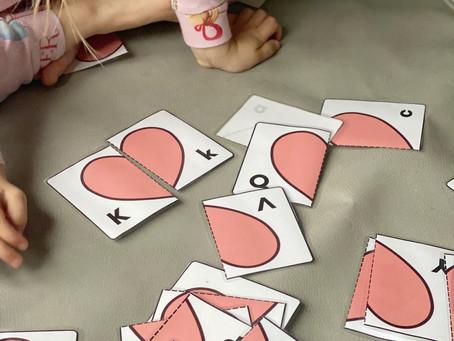 Valentine's Heart Letter Match