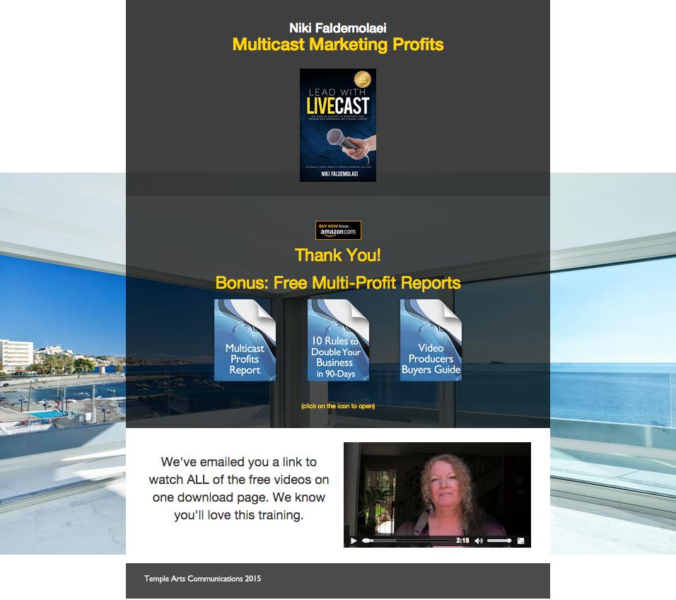 Multicast Profits Bonus Page