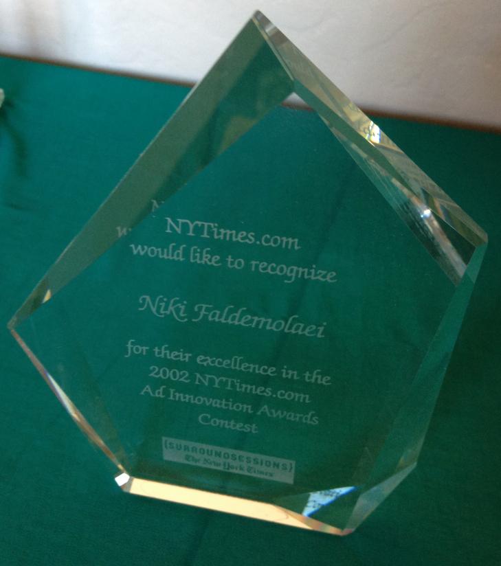 NY Times Interactive Award