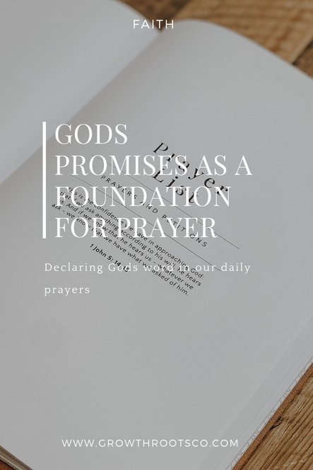 Gods Promises As A Foundation For Prayer