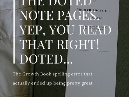 The DOTED Note Pages. Yep...You Read That Right! DOTED...