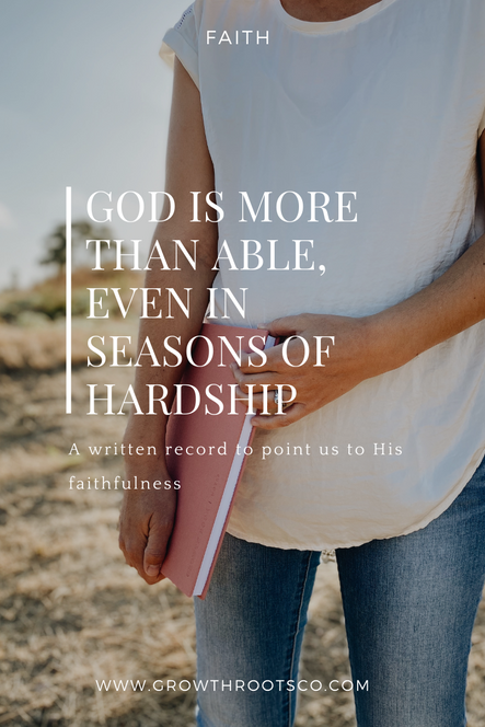 God is More Than Able, Even In Seasons Of Hardship