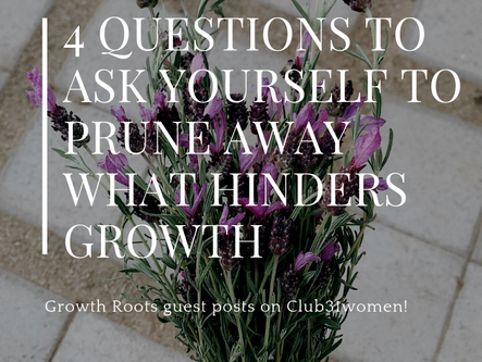 4 Questions to Ask Yourself to Prune Away What Hinders Growth