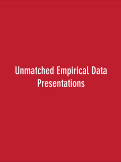 Unmatched Emperical Data Presentations