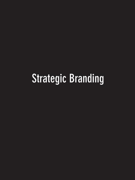 Strategic Branding