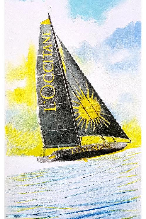 L'Occitane Portrait de voilier du Vendée Globe 2020 Collection format 40 X20 cm reproduction