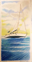 Portrait de votre voilier dessin original personnalisé