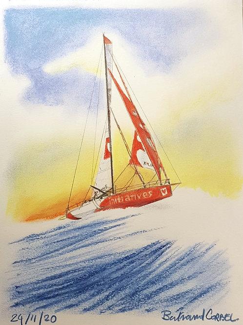 Vendée Globe 2020, carte postale, Initiatives Coeur