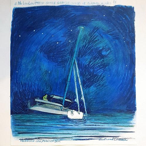"""Illustration originale """"visite nocturne"""""""
