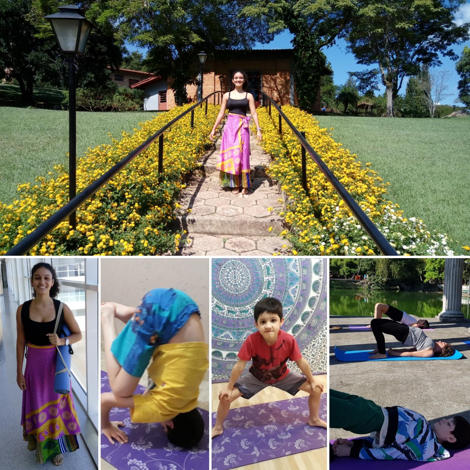 Filhos no mundo do Yoga e Meditação.