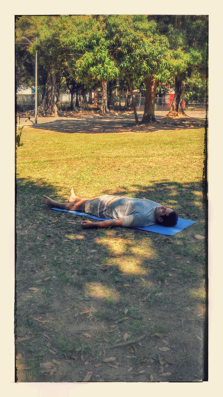 Savasana ao ar livre