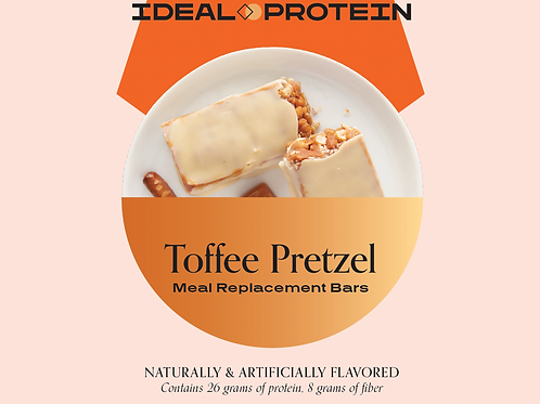 IDEAL COMPLETE TOFFEE AND PRETZEL MEAL REPLACEMENT BAR SINGLE BOX/6