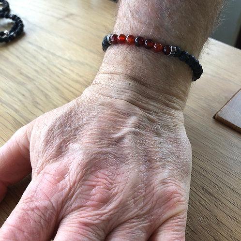 Men's/Unisex Lava Handmade Rock Bracelets